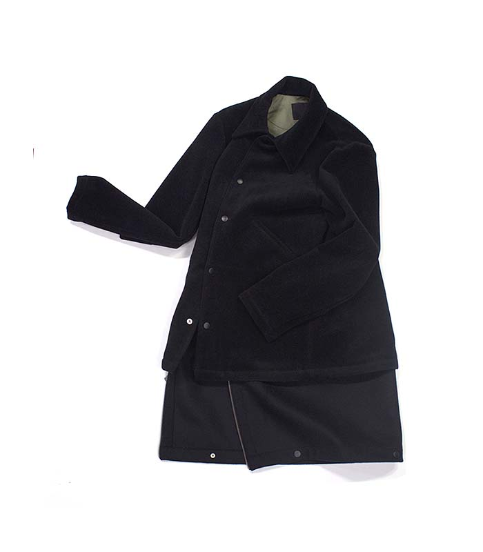 weyep 16 a/w  layered coat (black)