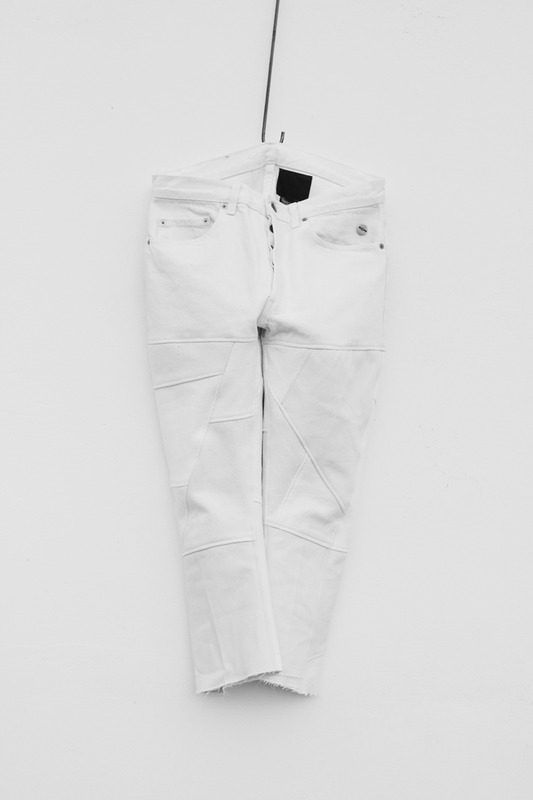weyep 17 S/S remake patchwork denim pants (white)